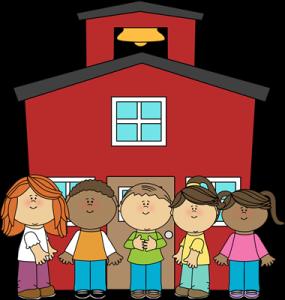 school-kids outside